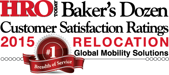 Winner of HRO Today's 2015 Relocation Customer Satisfaction Survey