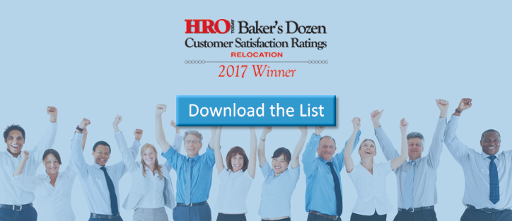 "Case Studies: Global Mobility Solutions named a ""Top Relocation Company"" for the fourth year in a row by HRO Today's ""Baker's Dozen"""