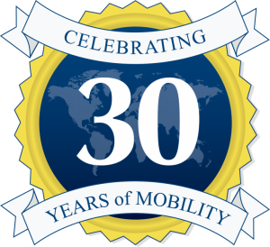 Global Mobility Solutions Corporate Relocation 30th Anniversary Logo
