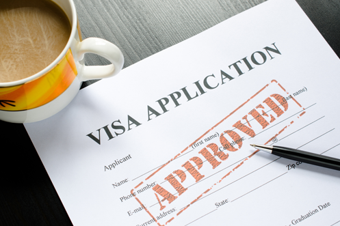 Visa Application Paperwork showing Approved stamp for H-1B visa lottery FY 2020 H-1B visa lottery Visa Application Paperwork showing Approved stamp for FY 2020 H-1B visa lottery meaning it qualified under the lottery cap limits