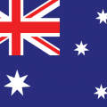Australia Flag with, red and white cross design in top left corner, white stars over blue background in main part of flag, for Australia Permanent Visa and Transitional Arrangements Australia Flag, blue background, four stars to right of banner, British flag in top left corner, representative of the Skilling Australians Fund