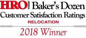 "Lump Sum Programs 2017 HRO Today's ""Baker's Dozen"" Award for Customer Satisfaction Best Relocation Companies"