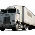 Large semi-truck moving household goods with Electronic Logging Devices