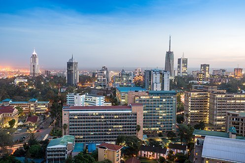 Nairobi, capital of Kenya, showing growth in skyline from the African Continental Free Trade Area