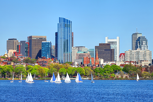 Boston Massachusetts skyline shown in blog post about the state choosing to retain deduction for moving expenses