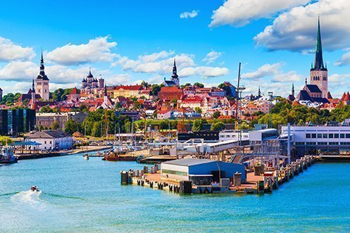 Port of Tallinn in Estonia, a city that is benefitting from changing European demographics