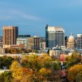 City skyline photos of Boise Idaho, where many people are moving based on 2019 migration patterns
