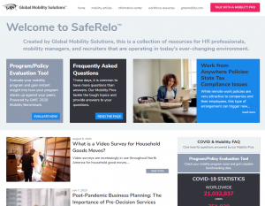 Press Release Global Mobility Solutions Introduces SafeRelo™ Information Technology Portal