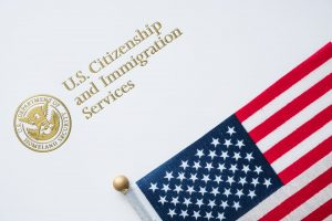 Letterhead of U.S. immigration visa forms for H1B lottery
